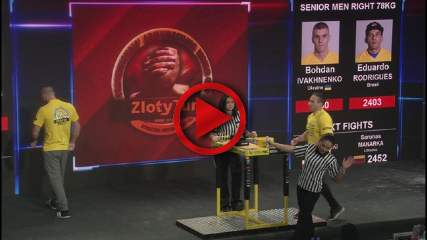 Zloty Tur 2015 - 78kg mens right hand - part 1 # Armbets.tv