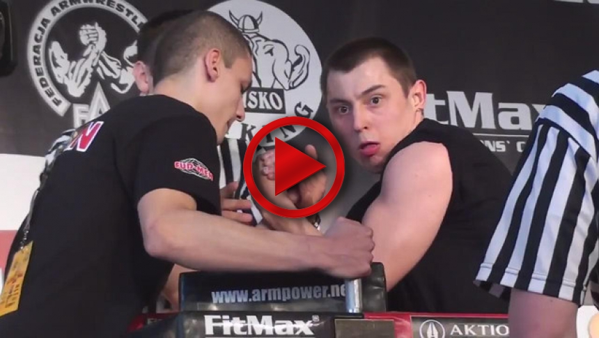 Polish National Armwrestling Championships 2011   left  - Maczek Gralak (1) # Armbets.tv # фкьиуеыюем