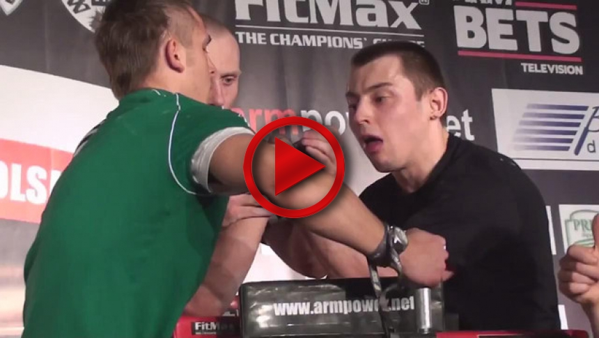 Polish National Armwrestling Championships 2011   left  - Dominik Sliwinski & Maczek Gralak (1) # Armbets.tv # фкьиуеыюем