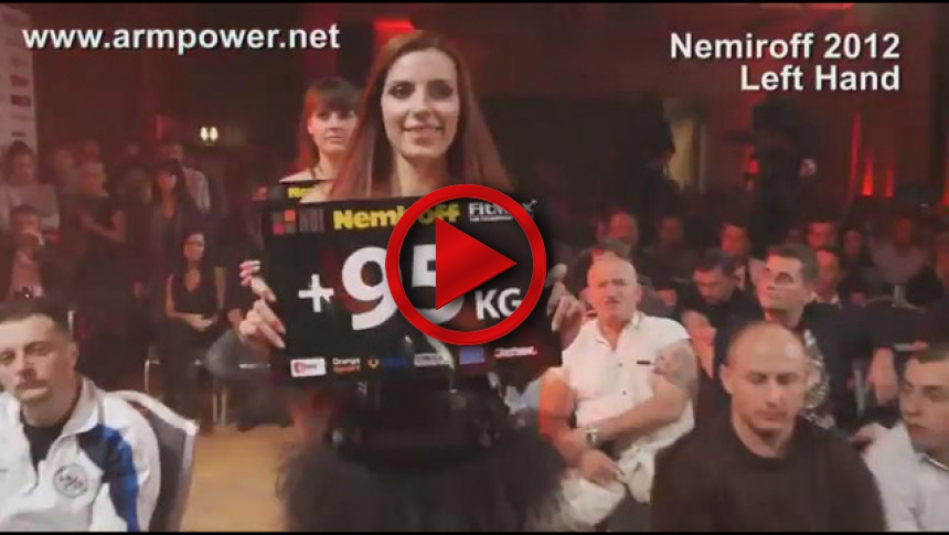 Nemiroff 2012 - Final Left hand Men  95kg # Armbets.tv # фкьиуеыюем