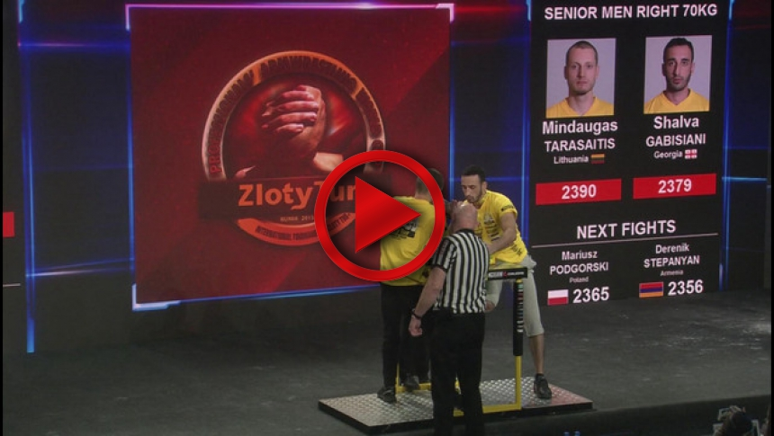 Zloty Tur 2015 - 70kg mens right hand - part 2 # Armbets.tv # фкьиуеыюем