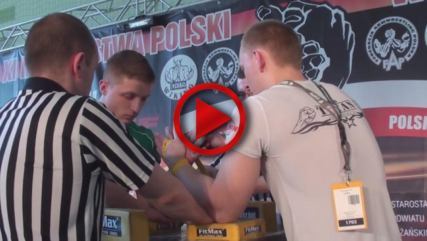 Polish National Armwrestling Championships 2011   left  - Lukasz Piechna # Armbets.tv # фкьиуеыюем