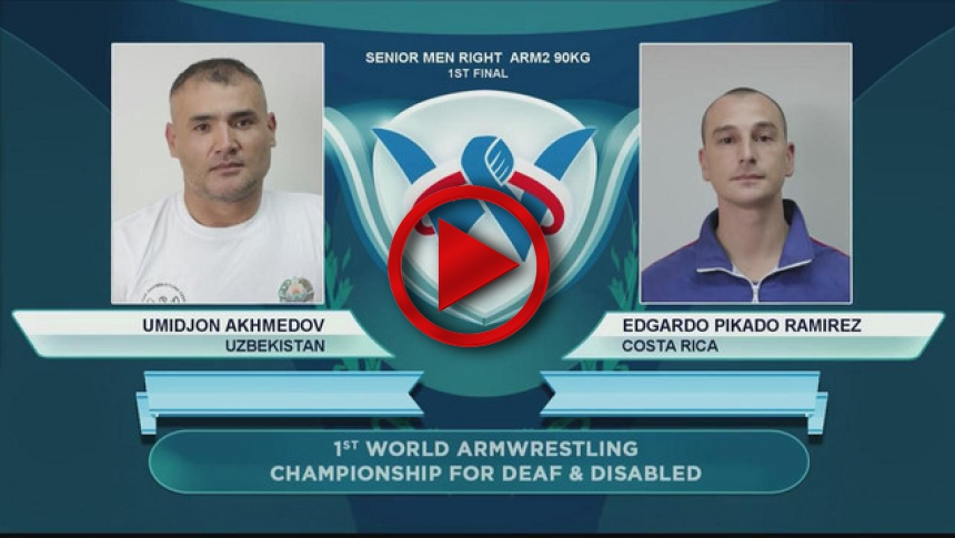 I World Armwrestling Championship for Disabled - senior men right arm2 90kg 1st # Armbets.tv # фкьиуеыюем