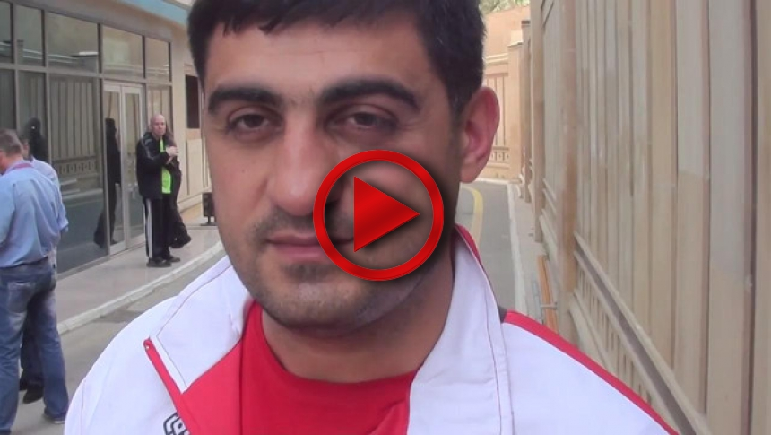 Usmanli Farid interviev from European Armwrestling Championships 2014 # Armbets.tv # фкьиуеыюем