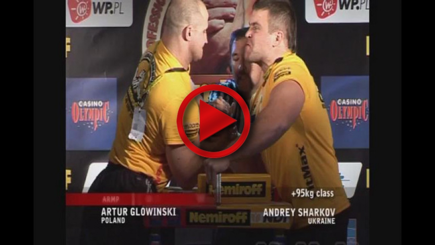 Zloty tur 2007 right hand man +95kg Glowinski - Sharkov # Armbets.tv # фкьиуеыюем