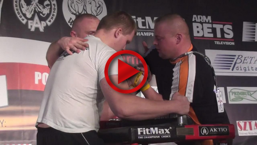 Polish National Armwrestling Championships 2011   left  - Kamil Jablonski & Michal Chmielewski (2) # Armbets.tv # фкьиуеыюем