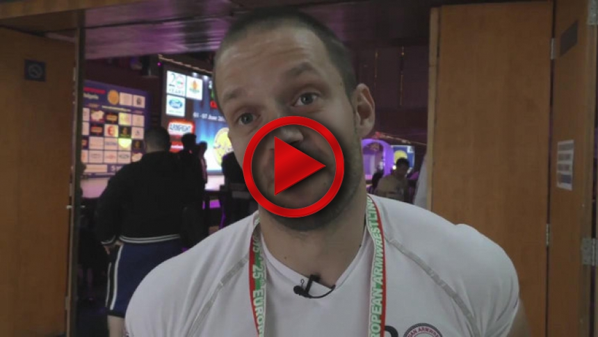 Hristo Delidzhakov from Bulgaria on European Armwrestling Championship 2015 # Armbets.tv # фкьиуеыюем