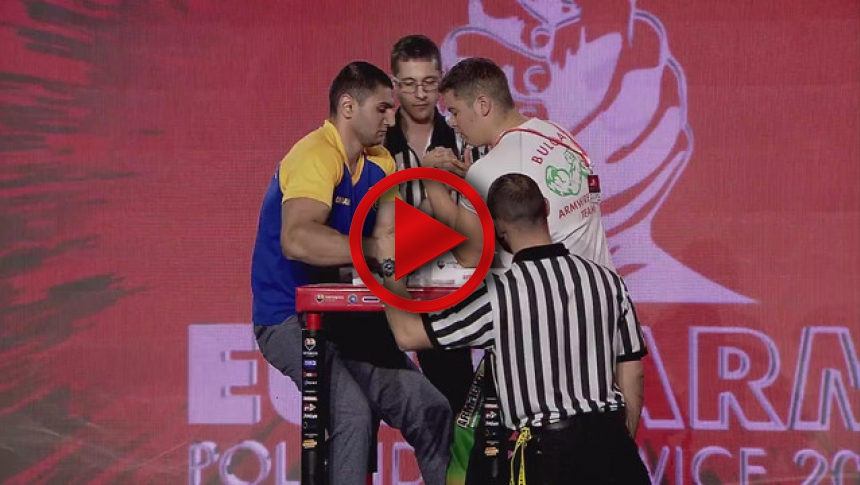 EuroArm2017 - EuroArm2017 - EuroArm2017 - ALIDINOV -  MILANOV - Semi-final Senior Men 100 kg Left # Armbets.tv # фкьиуеыюем