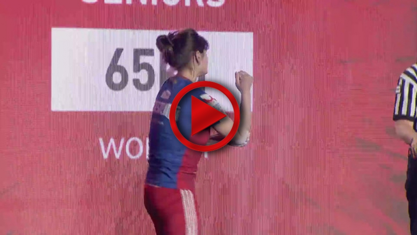 EuroArm2017 WAWRZYNIAK - ALEEVA - Semi-final Senior Women 65 kg Right # Armbets.tv # фкьиуеыюем