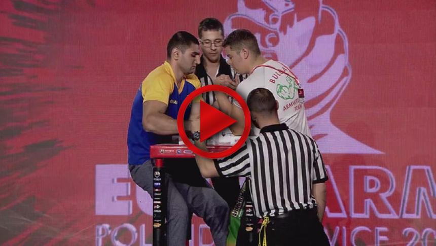 EuroArm2017 - ALIDINOV -  MILANOV - Semi-final Senior Men 100 kg Left # Armbets.tv # фкьиуеыюем