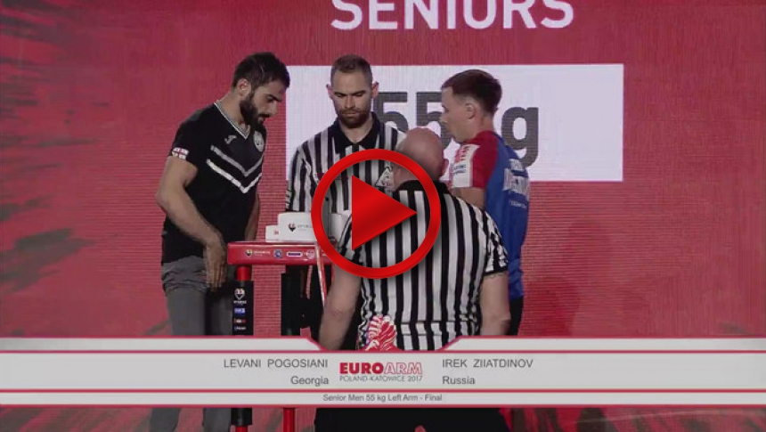 EuroArm2017 - POGOSIANI - ZIIATDINOV - Final Senior Men 55 kg Left # Armbets.tv # фкьиуеыюем