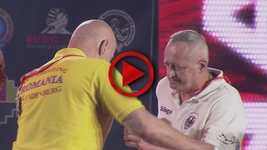 EuroArm2017 - CARLOGANU - SZILAGY - Final Senior Grand Master 90 kg Left # Armbets.tv # фкьиуеыюем