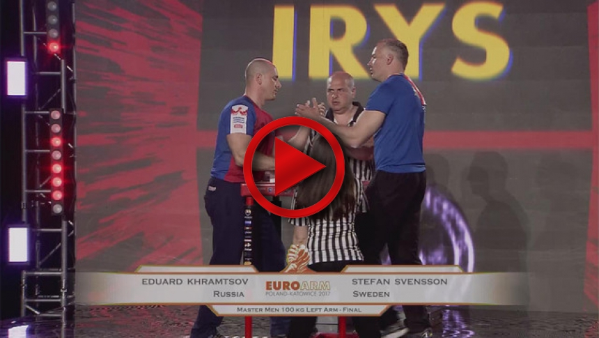 EuroArm2017 - KHRAMTSOV - SVENSSON - Final Master Men 100 kg Left # Armbets.tv # фкьиуеыюем