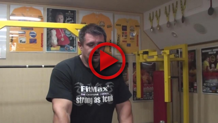 Biceps training 40 - Training of Arm wrestling (Polish version) # Armbets.tv # фкьиуеыюем