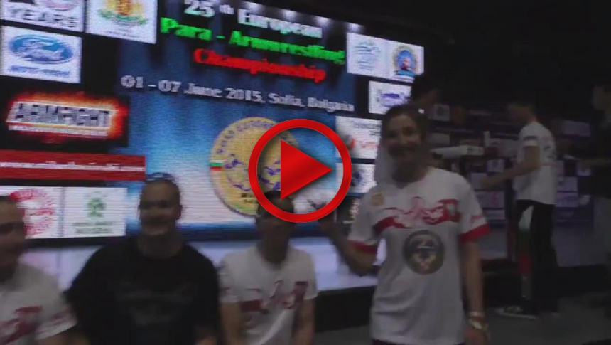 Polish team on European Armwrestling Championship 2015 # Armbets.tv # фкьиуеыюем