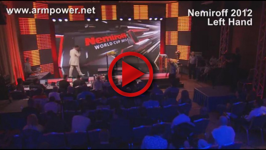 Nemiroff 2012 - semifinal left hand men over 95kg # Armbets.tv # фкьиуеыюем