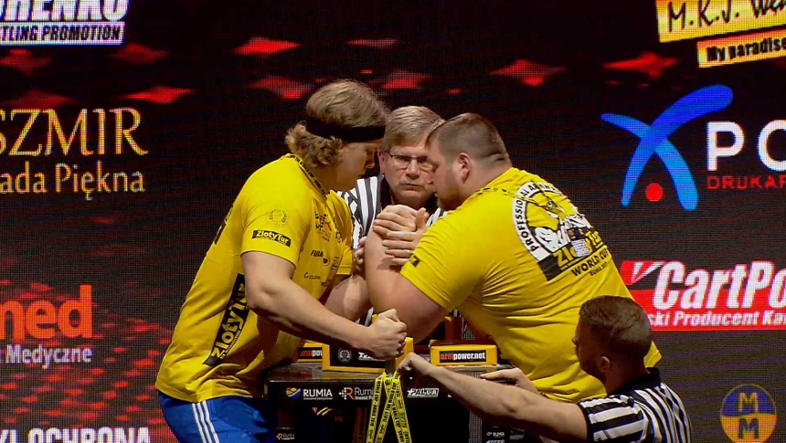 Tobias Sporrong vs Dimitry Silaev Left Hand Zloty tur Armwrestling World Cup 2019 # Armbets.tv # фкьиуеыюем