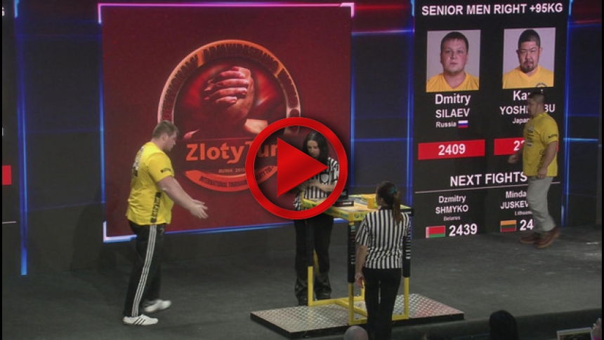 Zloty Tur 2015 - +95kg mens right hand - part 1 # Armbets.tv
