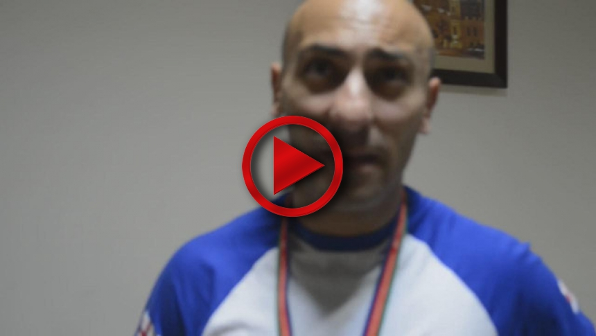 JAMBUL VIBLIANI, interviev from European Armwrestling Championships 2014 # Armbets.tv # фкьиуеыюем