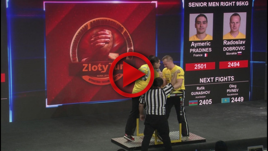 Zloty Tur 2015 - 95kg mens right hand - part 2 # Armbets.tv