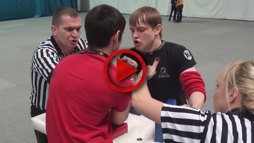 Russian Junior Armwrestling Championships 2012 - (70) # Armbets.tv
