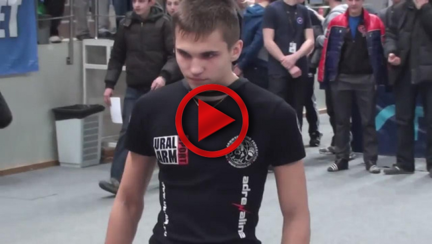 Russian Junior Armwrestling Championships 2012 - (68) # Armbets.tv