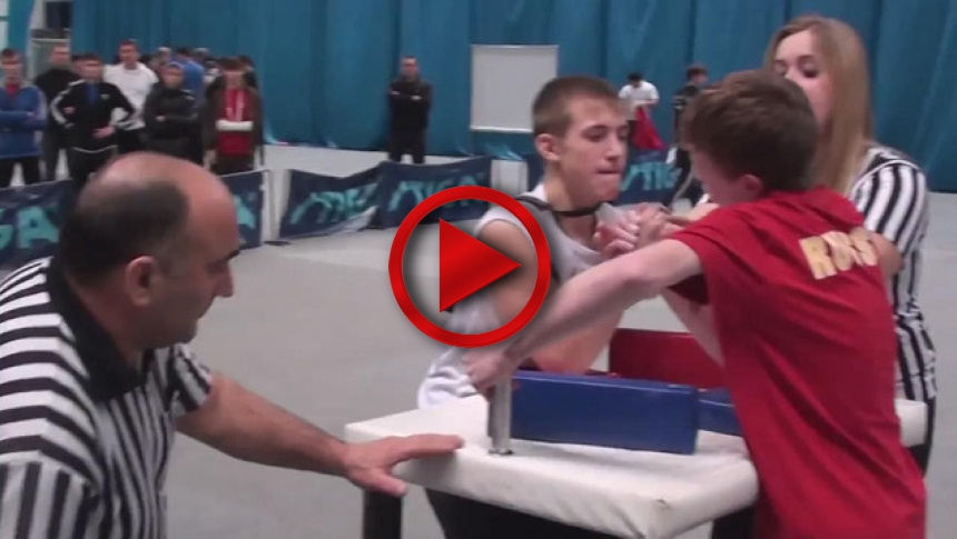 Russian Junior Armwrestling Championships 2012 - (72) # Armbets.tv