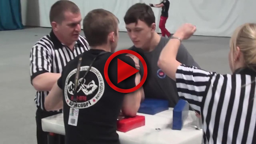 Russian Junior Armwrestling Championships 2012 - (79) # Armbets.tv