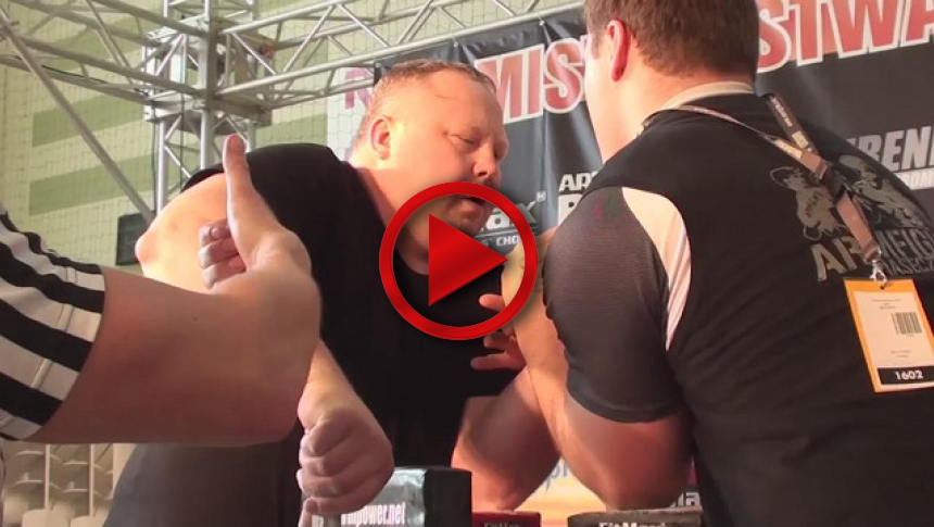 Polish National Armwrestling Championships 2011   left  - Slawek Glowacki & Marcin Skalski # Armbets.tv # фкьиуеыюем
