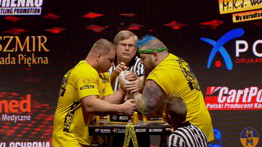 Marek Majak vs Dean Bolt Left Hand Zloty tur Armwrestling World Cup 2019 # Armbets.tv # фкьиуеыюем