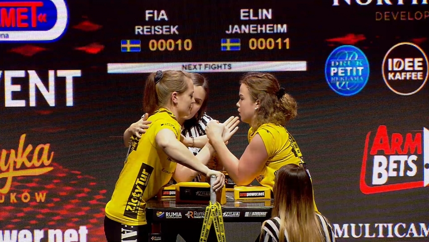 Fia Reisek vs Elin Jeneheim Left Hand Zloty tur Armwrestling World Cup 2019 # Armbets.tv # фкьиуеыюем