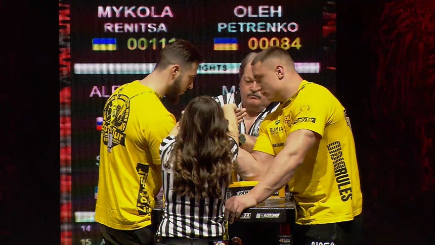 Mykola Renitsa vs Oleh Petrenko Right Hand Zloty tur Armwrestling World Cup 2019 # Armbets.tv # фкьиуеыюем