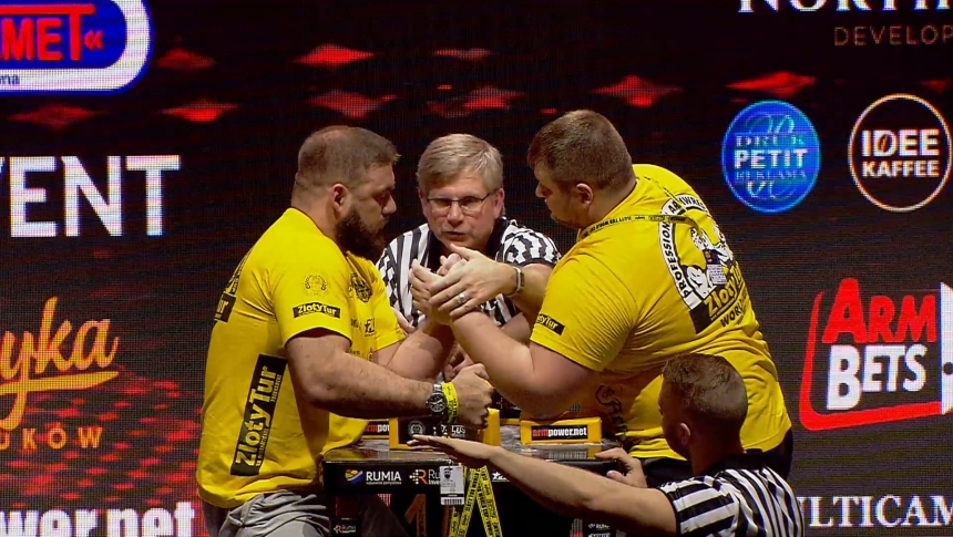 Illia Izman vs Dimitry Silaev Left Hand Zloty tur Armwrestling World Cup 2019 # Armbets.tv # фкьиуеыюем