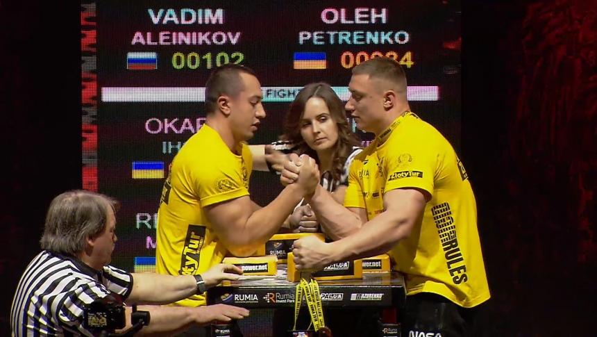 Vadim Aleinikov vs Oleh Petrenko Right Hand Zloty tur Armwrestling World Cup 2019 # Armbets.tv # фкьиуеыюем