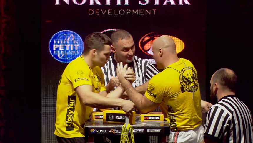 Toms Rozits vs Piotr Bartosiewicz Left Hand Zloty tur Armwrestling World Cup 2019 # Armbets.tv # фкьиуеыюем