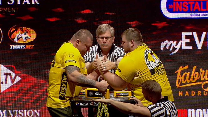 Waldemar Neryng vs Dmitry Silaev Left Hand Zloty tur Armwrestling World Cup 2019 # Armbets.tv # фкьиуеыюем