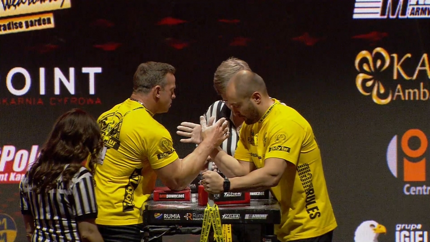 Daniel Mosier vs Olesandr Plishyvyi Right Hand Zloty tur Armwrestling World Cup 2019 # Armbets.tv # фкьиуеыюем