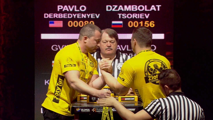 Pavlo Derbedyenyev vs Dzamblet Left Hand Zloty tur Armwrestling World Cup 2019 # Armbets.tv # фкьиуеыюем