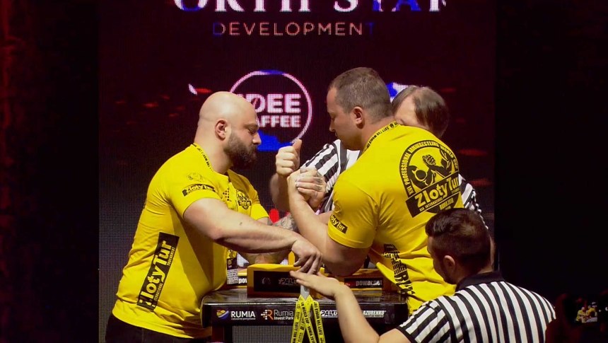 Vasilis Fisatidis Vs Pavlo Derbedyenyev Left Hand Zloty tur Armwrestling World Cup 2019 # Armbets.tv # фкьиуеыюем