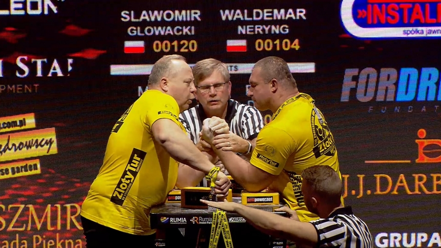 Slawomir Glowacki vs Waldemar Neryng Left Hand Zloty tur Armwrestling World Cup 2019 # Armbets.tv # фкьиуеыюем