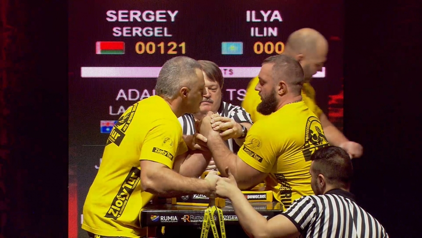 Sergey Sergel vs Ilya Ilin Left Hand Zloty tur Armwrestling World Cup 2019 # Armbets.tv # фкьиуеыюем