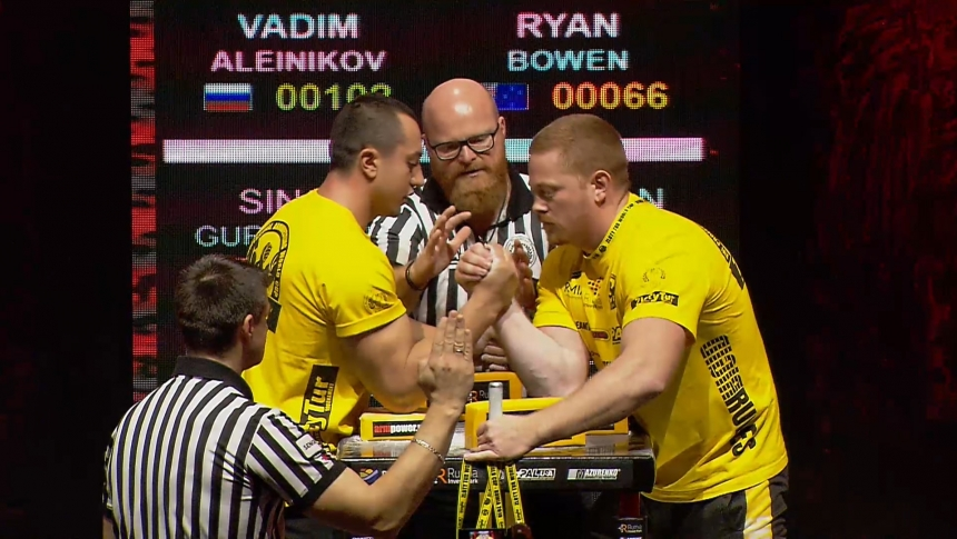Vadim Aleinikov vs Ryan Bowen Right Hand Zloty tur Armwrestling World Cup 2019 # Armbets.tv # фкьиуеыюем