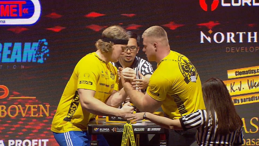 Tobias Sporrong vs Deivydas Rimkus Left Hand Zloty tur Armwrestling World Cup 2019 # Armbets.tv # фкьиуеыюем