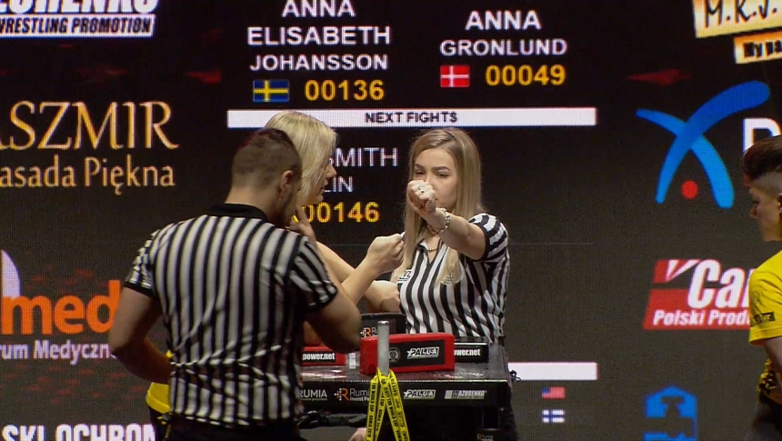 Anna Elisabeth Johansson vs Anna Gronlund Right Hand Zloty tur Armwrestling World Cup 2019 # Armbets.tv # фкьиуеыюем